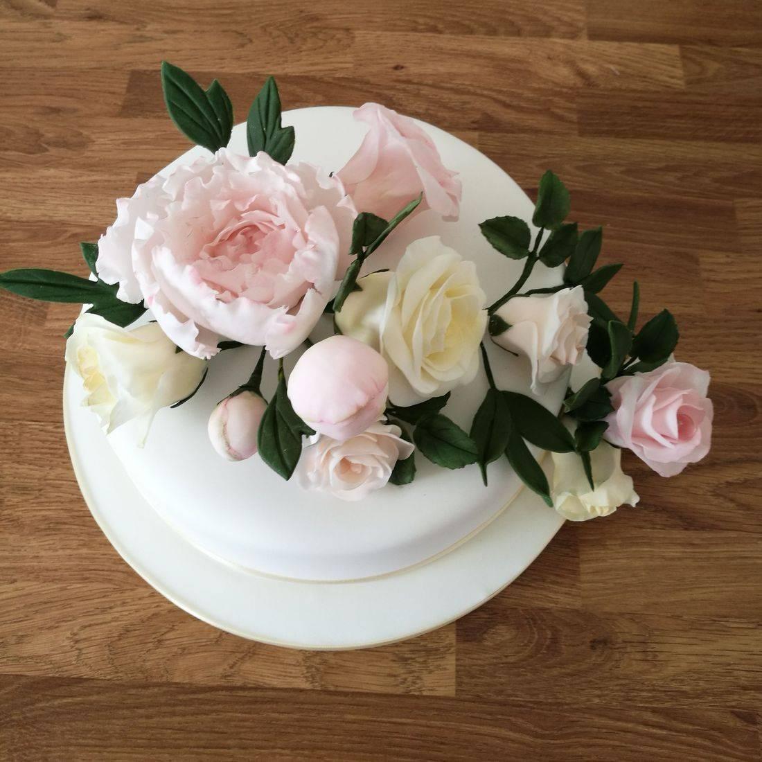 Wedding Cake Peony & Roses