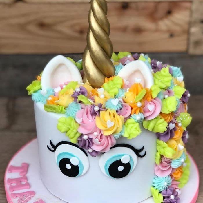 birthday cake unicorn rainbow pretty swirl buttercream
