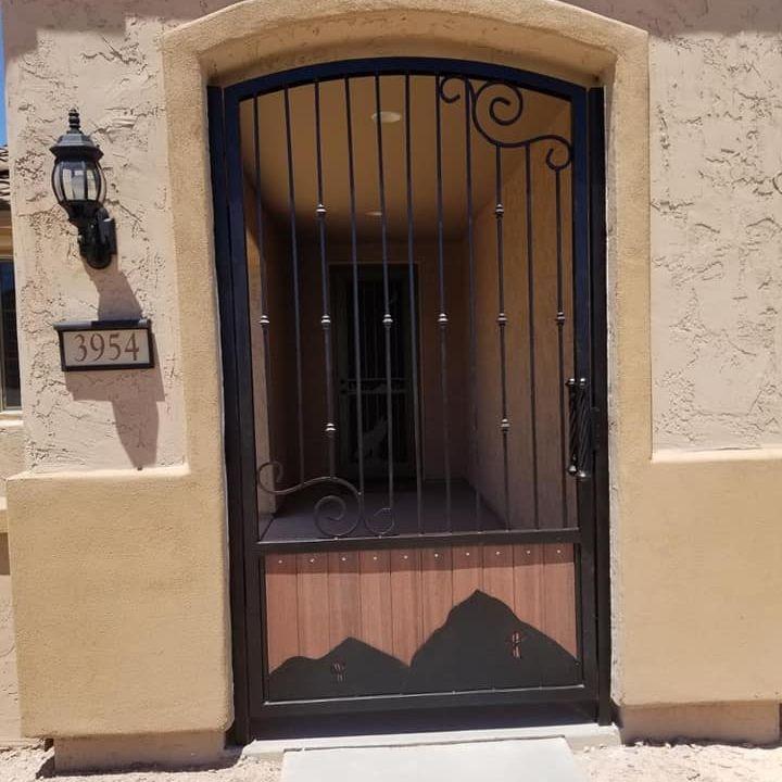 large courtyard gate