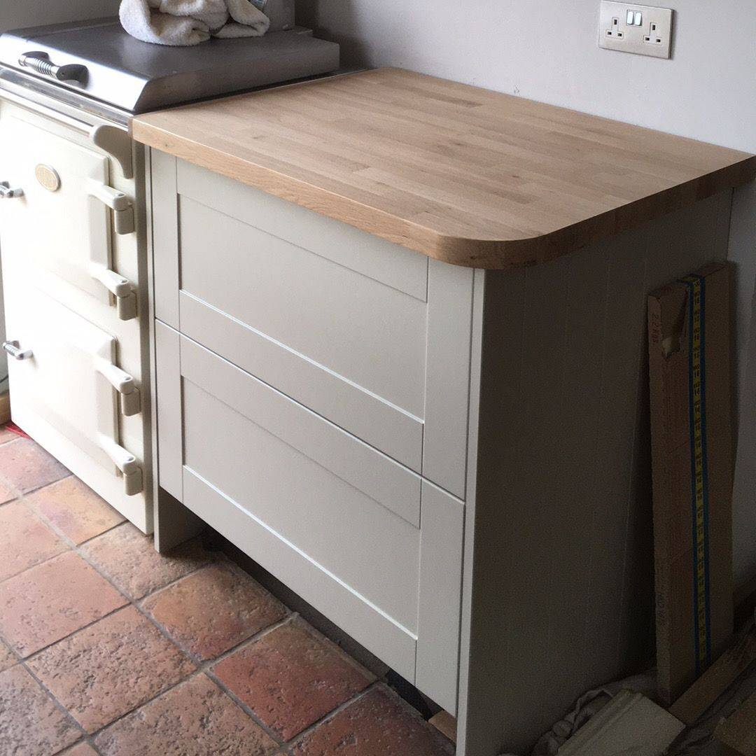 kitchen fitted oak worktop