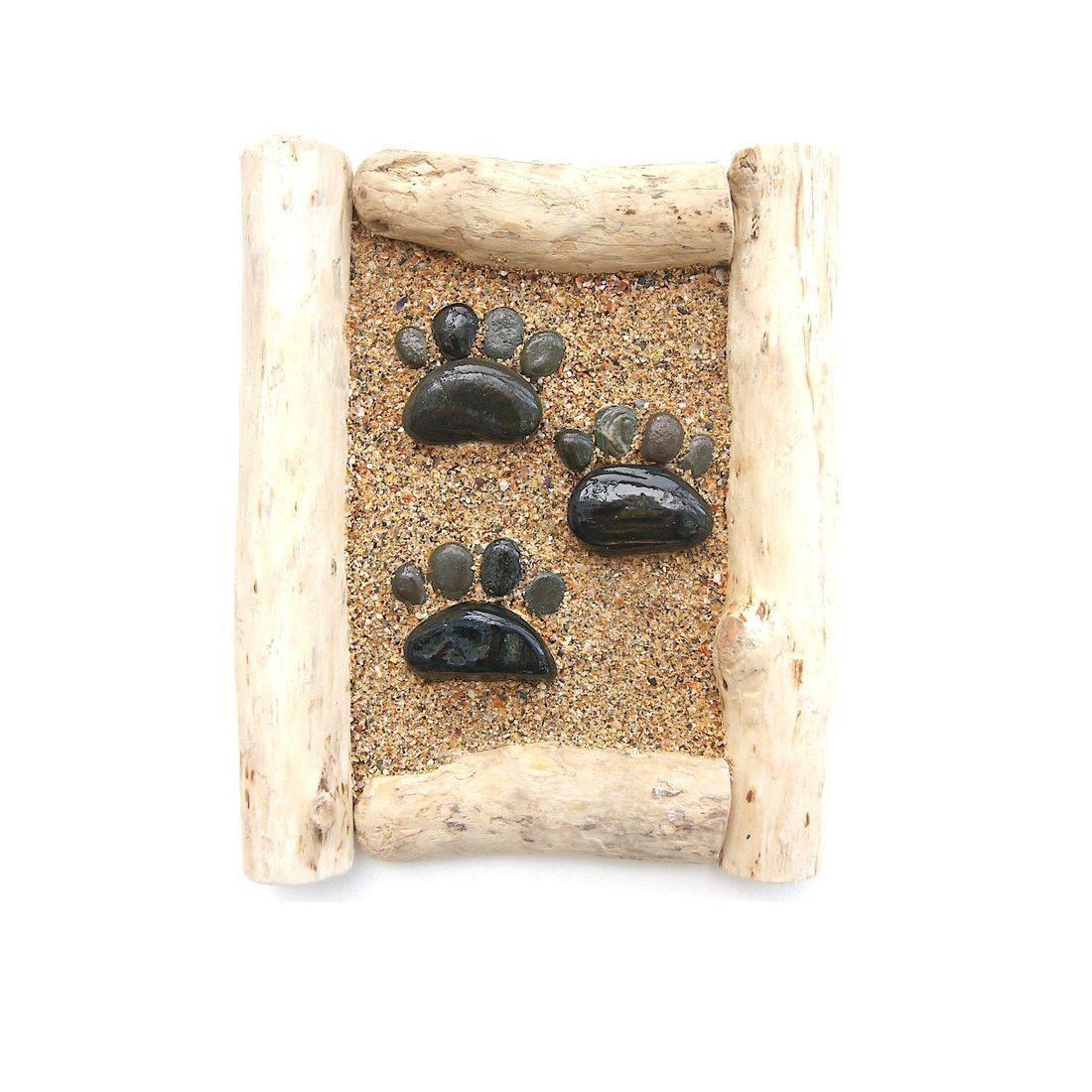 Driftwood stone art 4