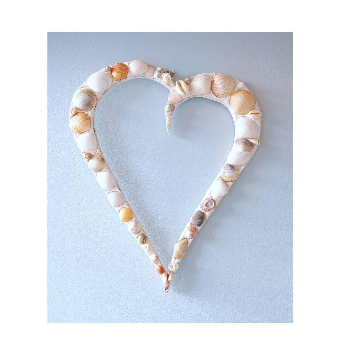 10 Mosaic Shell hollow heart