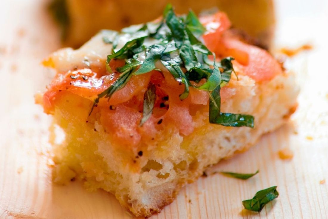 This is our Foccacia Bruschetta