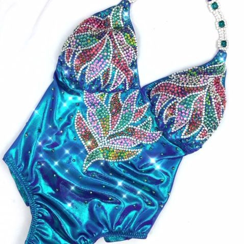 Turquoise one  piece fit model