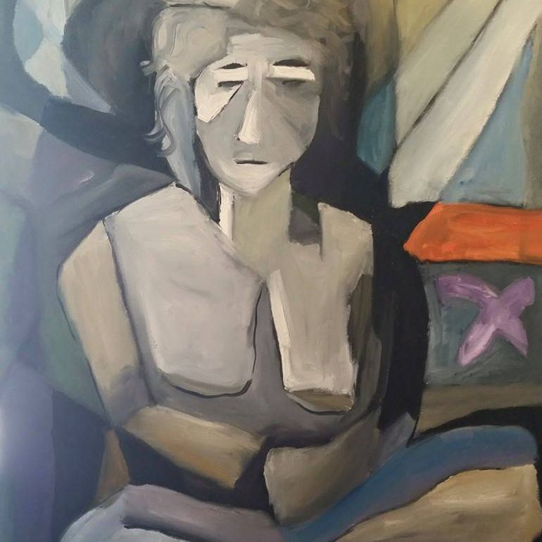 abstract woman gray