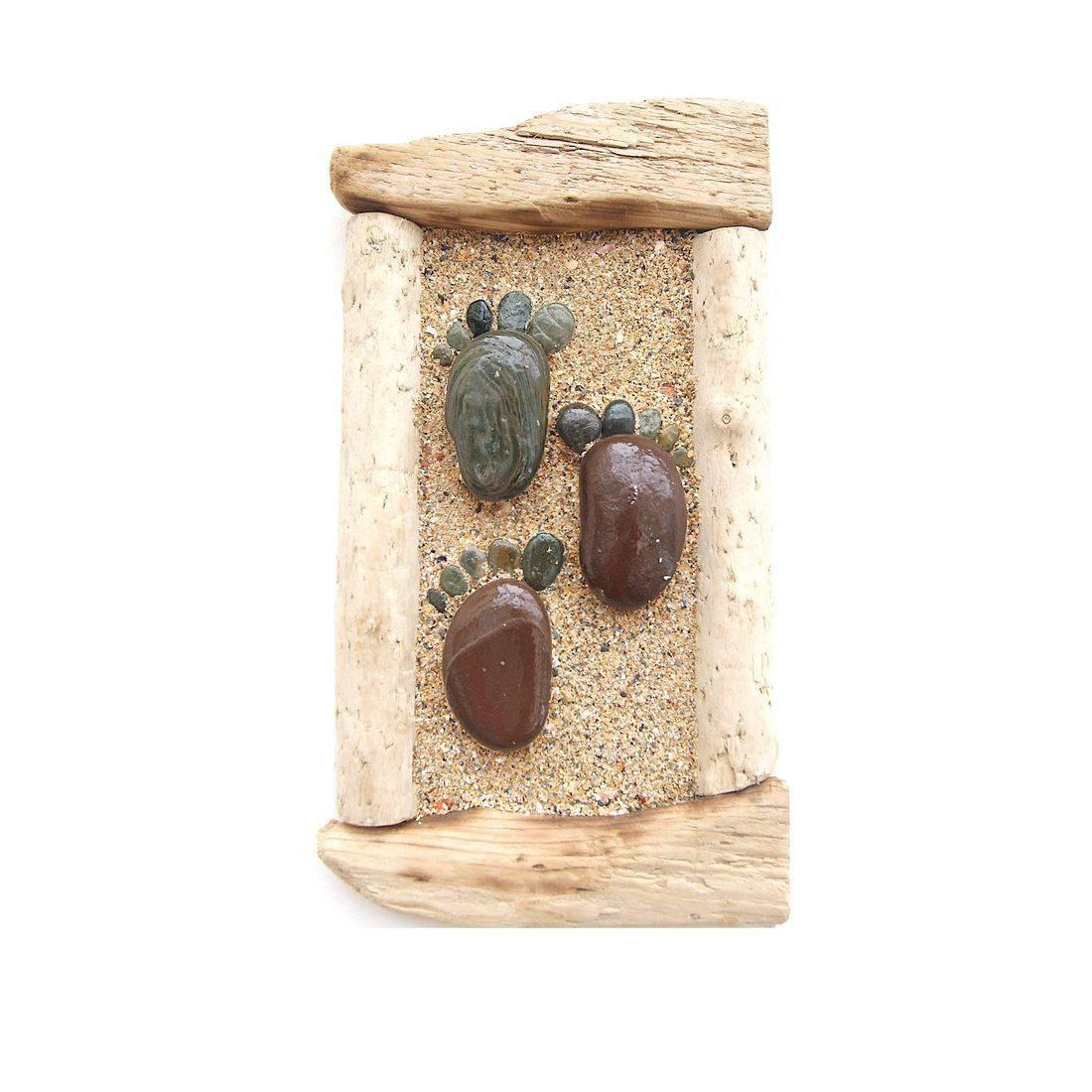 Driftwood stone art 16