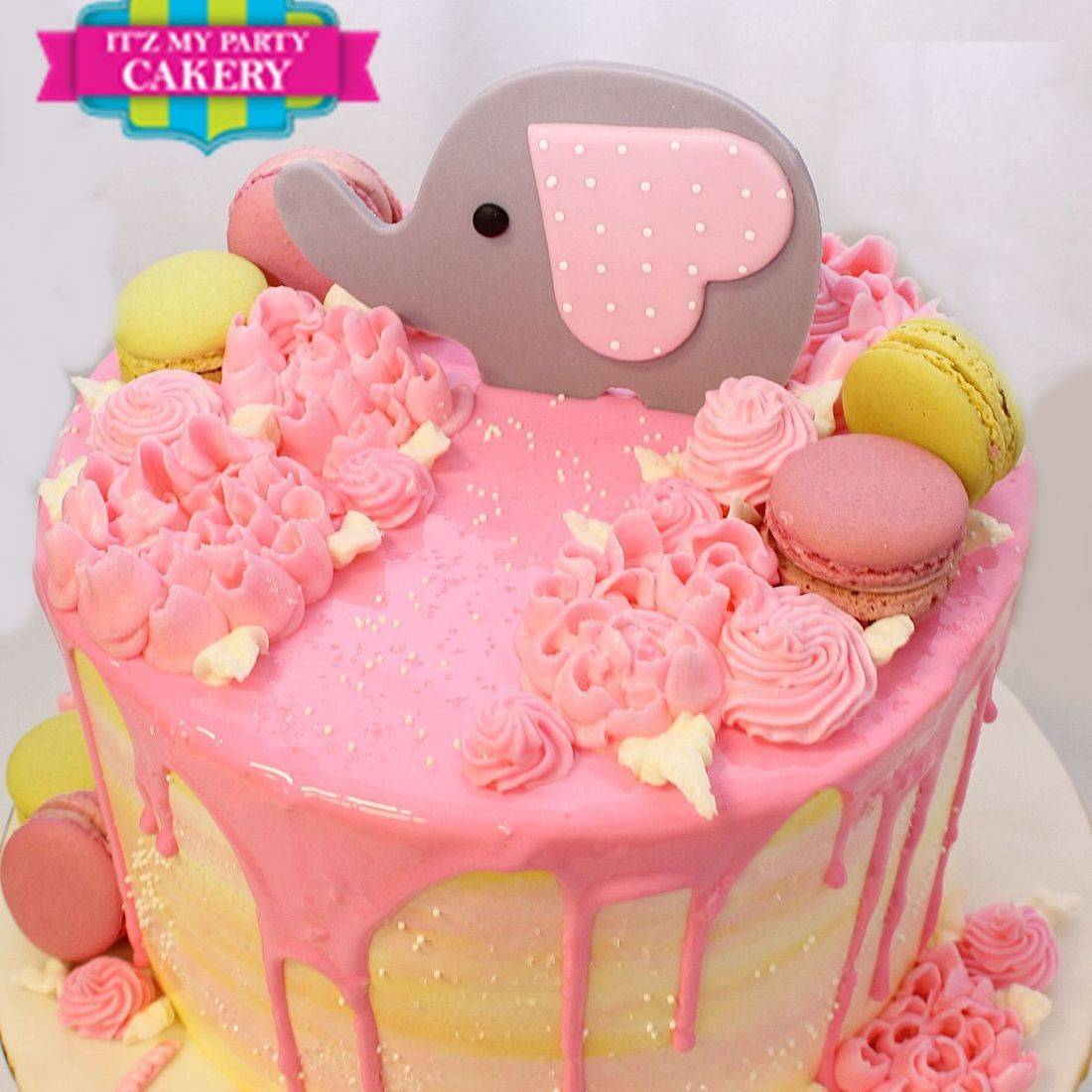 baby elephant baby shower stylized cakes milwaukee
