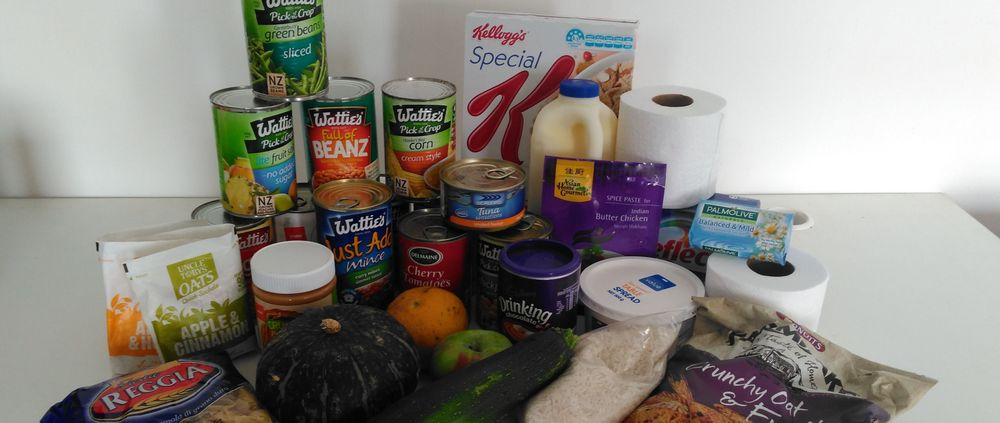Some of the items you may receive in your food parcel