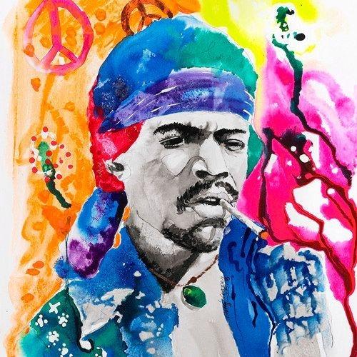 DCooper - Jimmy Hendrix - Giclee -12x18 - $139