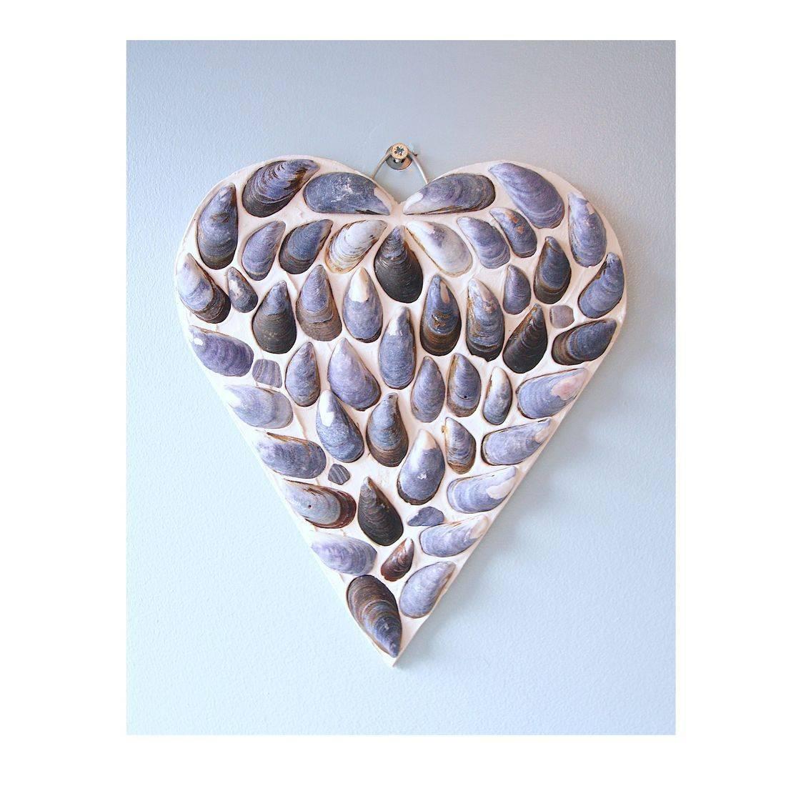 1 Mosaic Shell blue Heart