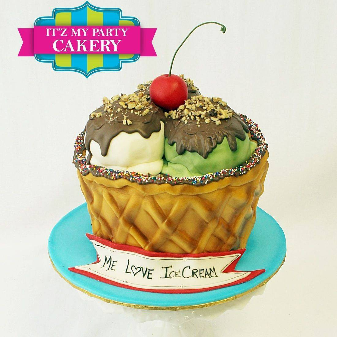 Ice Cream Sundae Cake Carved Dimensional Cake Milwaukee