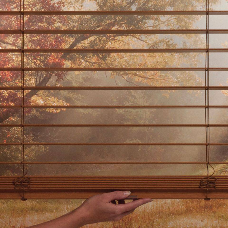 Hunter Douglas blinds with Macro Cordless LiteRise raise or lower with the touch of a hand and are safe for children and pets.
