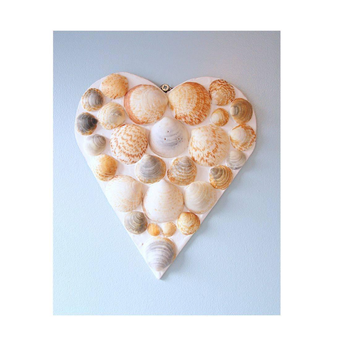19 Mosaic Shell brown heart