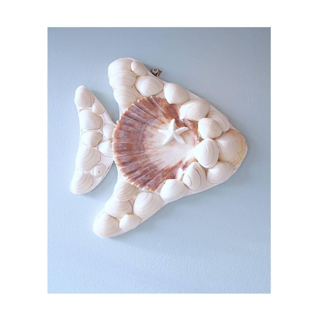 12 Mosaic Shell white fish
