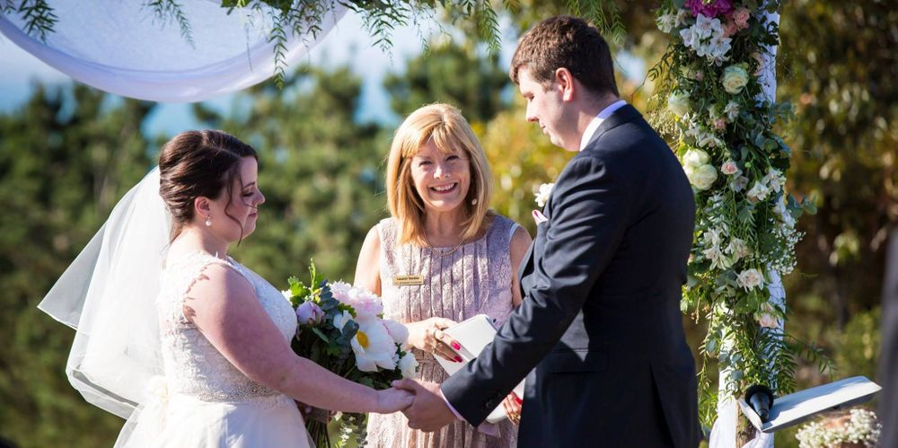 The sun came out for this gorgeous ceremony