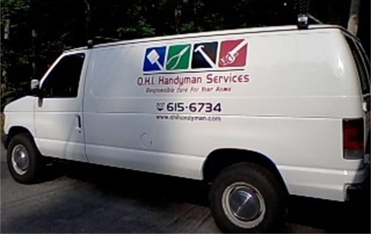 Service van for Quality Home Improvement & Handyman Services