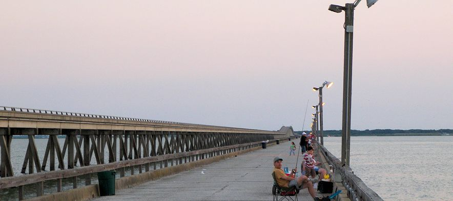 Nearby Copano Bay fishing pier