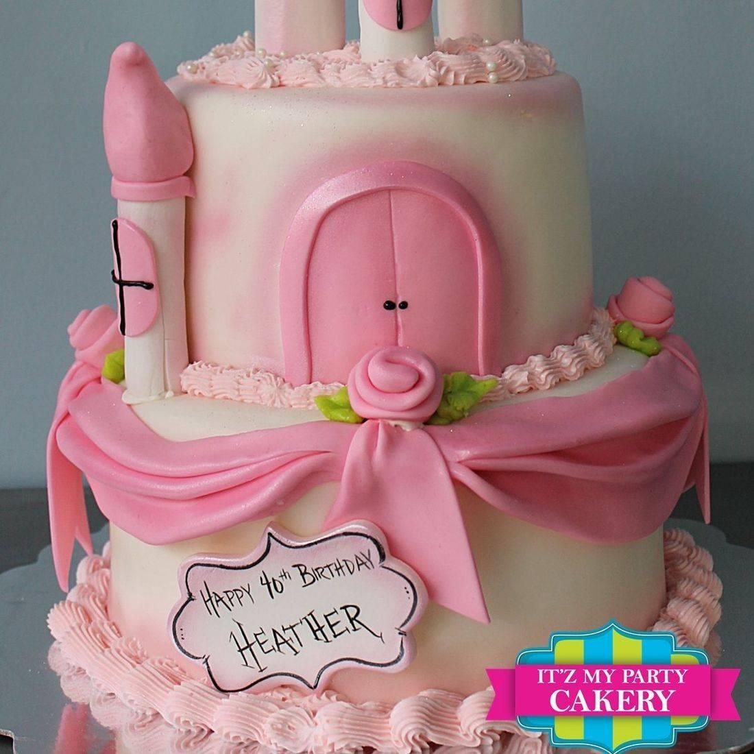 Custom  Pink Princess Castle  Cake  Milwaukee