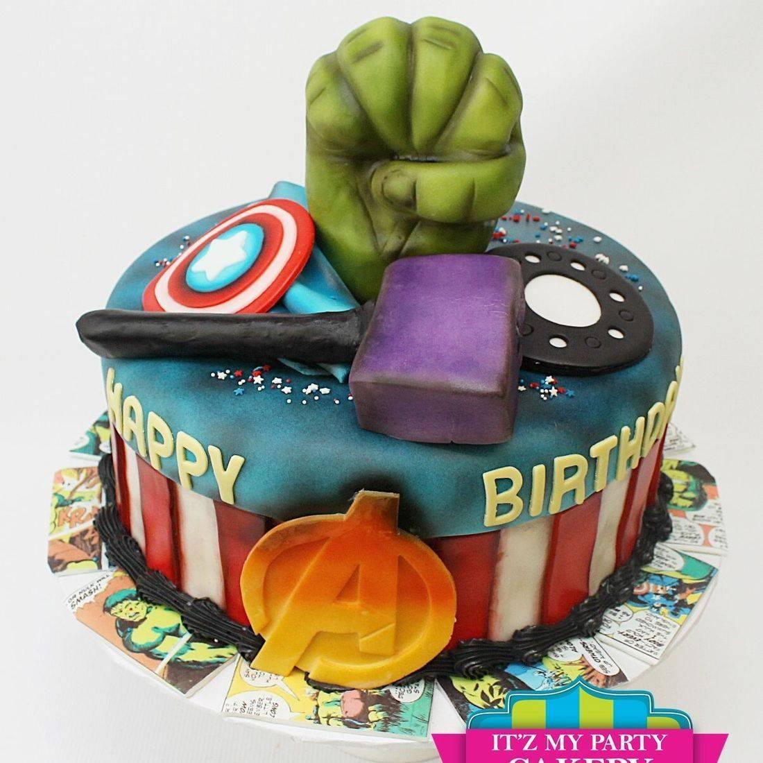 Super hero avengers captain america thor hulk iron man cake milwaukee