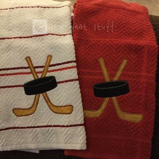 Personalized Hockey Hand Towels