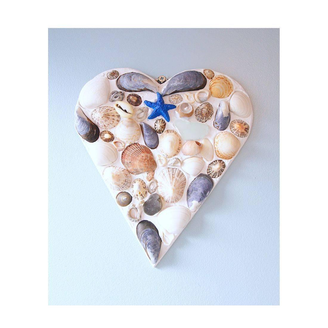 13 Mosaic Shell blue starfish heart