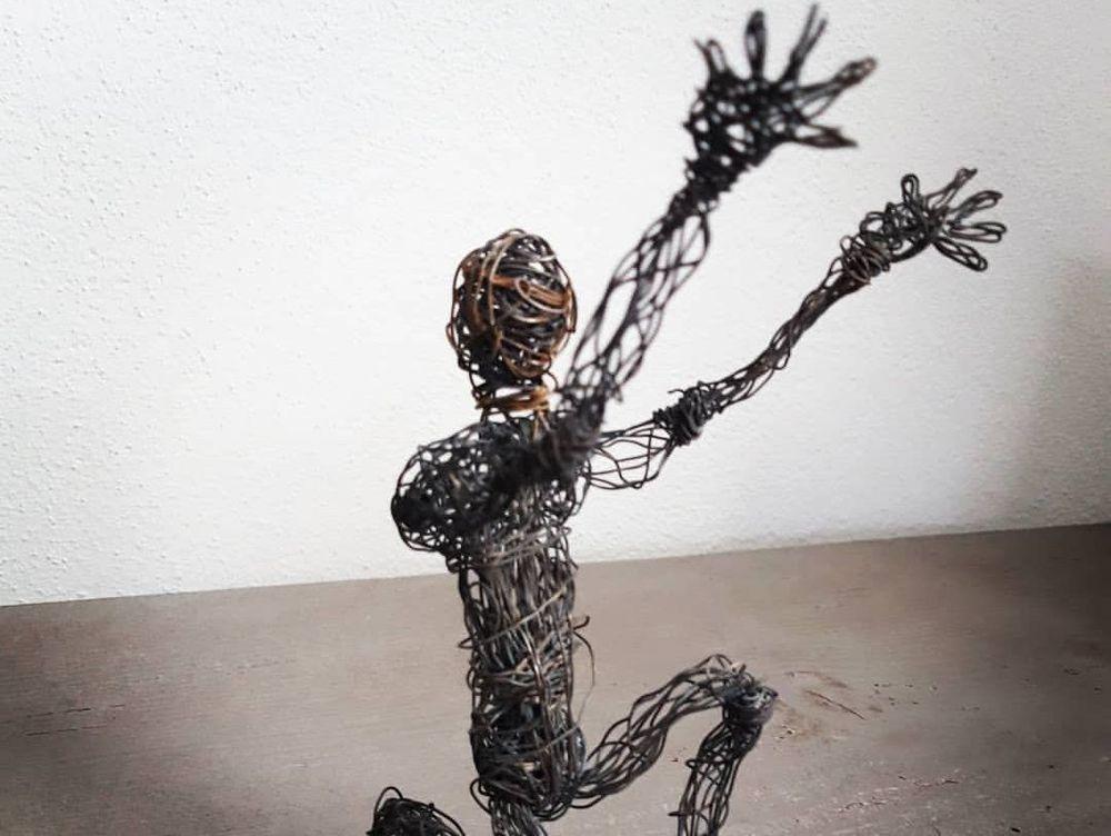 Draht Metallkunst Kunst
