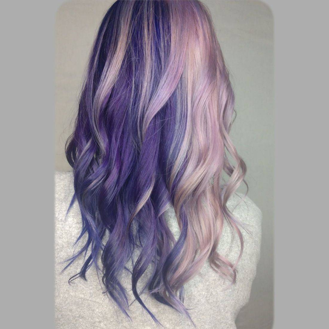 split dye purple hair pastel haircolor lavender olaplex certified covid safe
