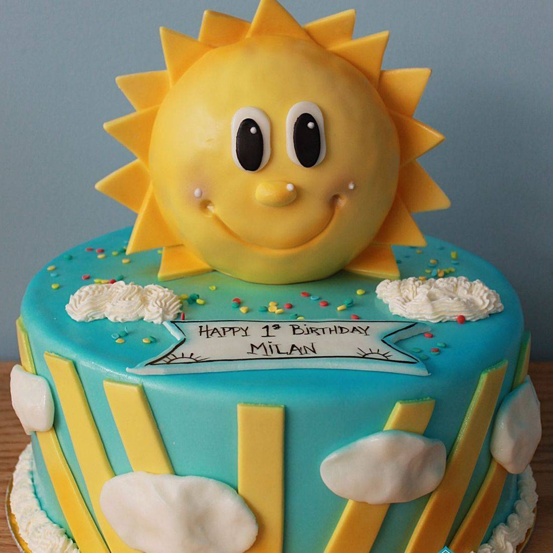 Custom sunshine cake