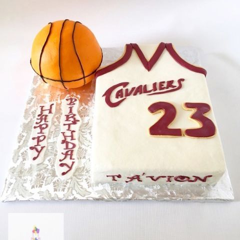 LeBron James Basketball Cake