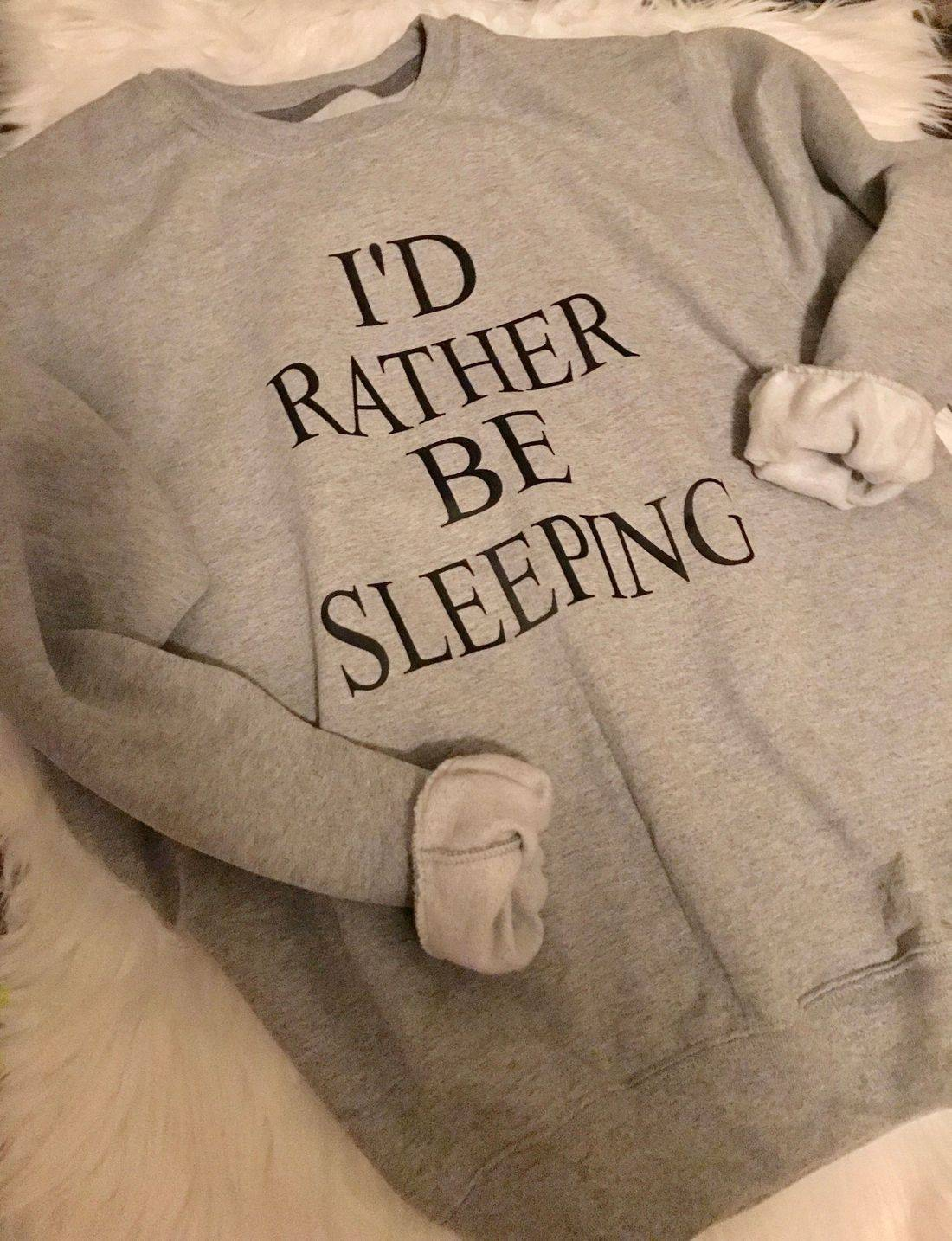t-shirt, sweatshirt, sleep