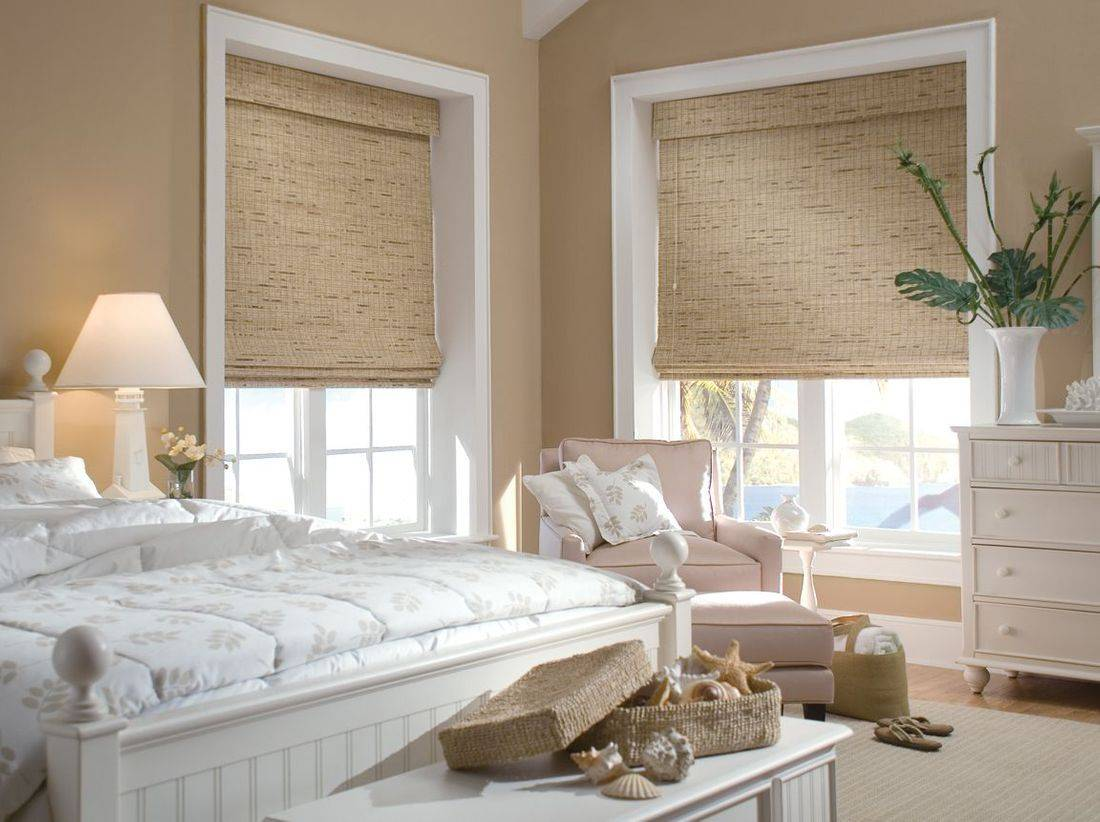 Hunter Douglas Provenance Woven Wood Shades offer the beauty of natural materials, including reeds, grasses and woods. They transform sunlight beautifully. Add an attached or independent liner for more privacy.
