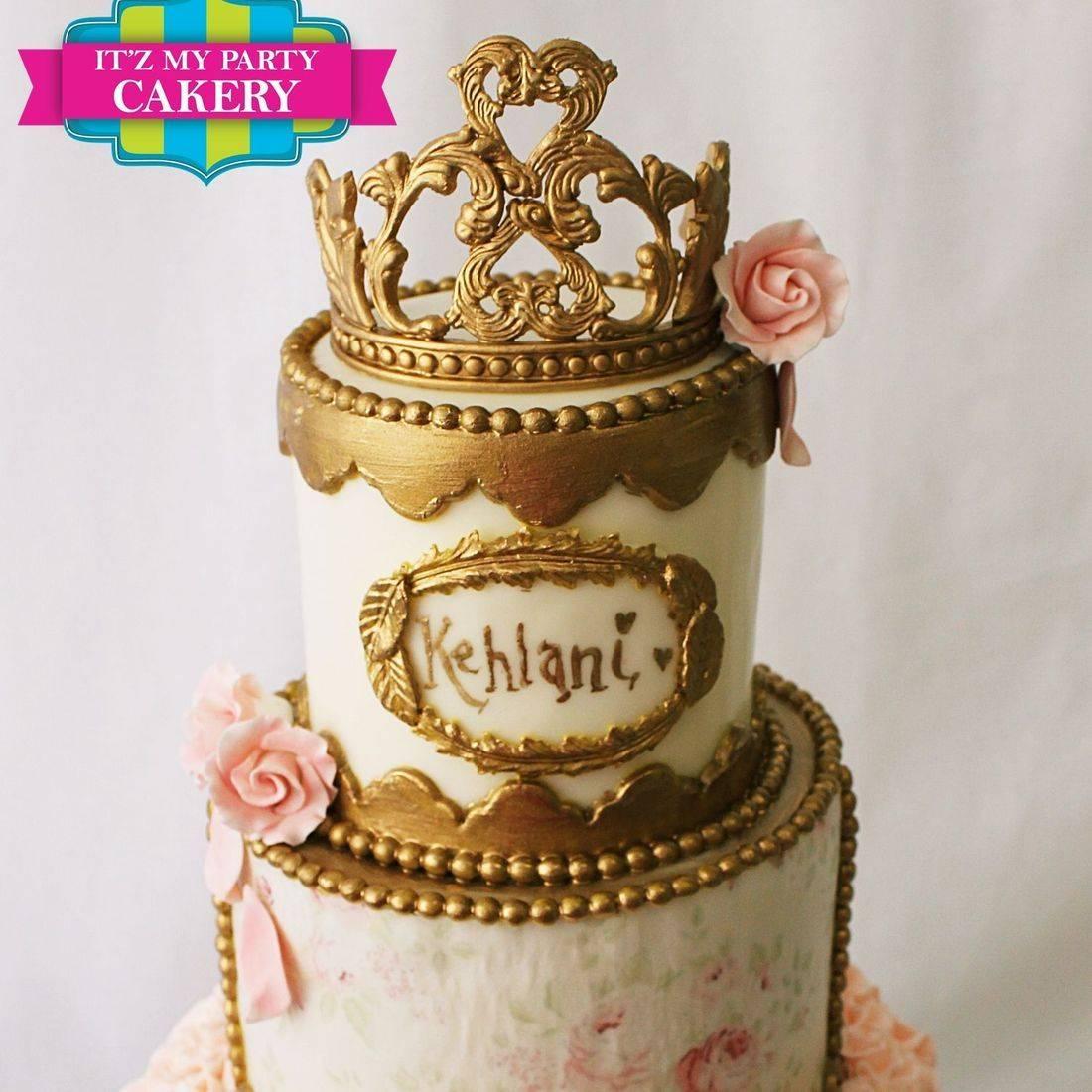 Custom  Gold Crown Baroque Cake  Milwaukee