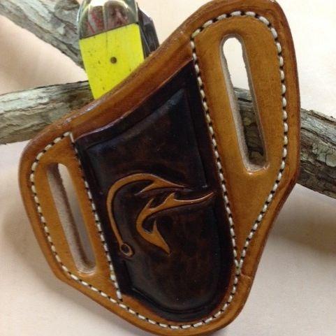 knife sheath , tooled duckhead , trapper