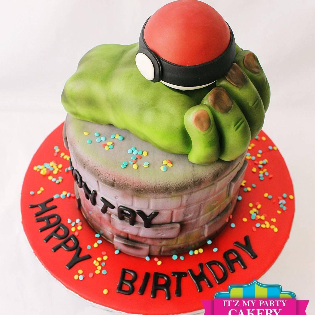Custom Hulk Pokemon Cake Milwaukee