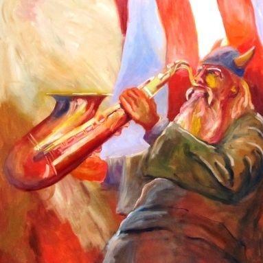 viking jazz painting