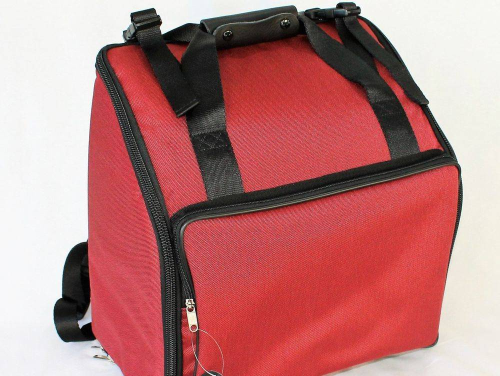 Professional small melodeon bag- red