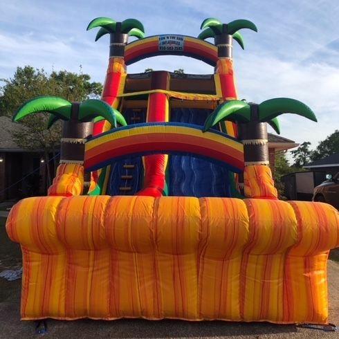 18' ft Tropical Paradise Slide