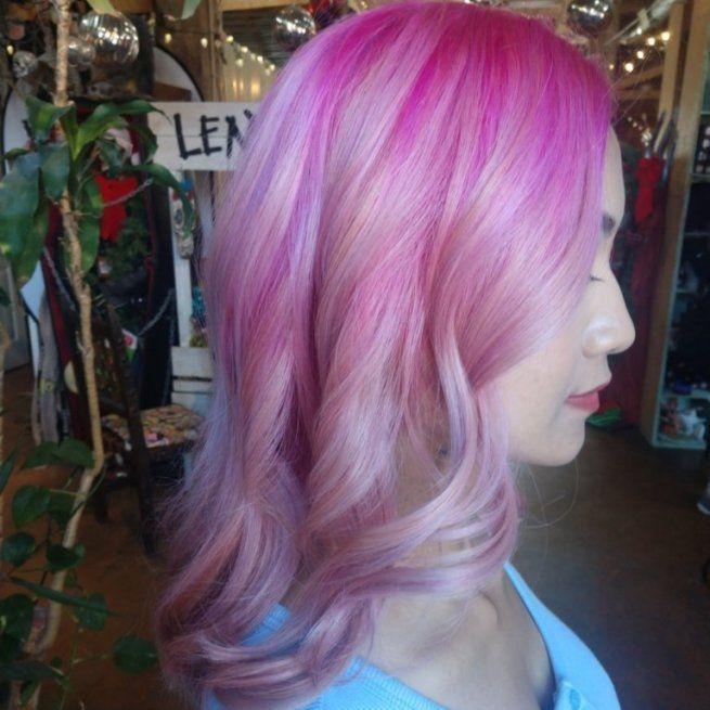 pastel pink healthy punk hair charlotte colorist alt salons