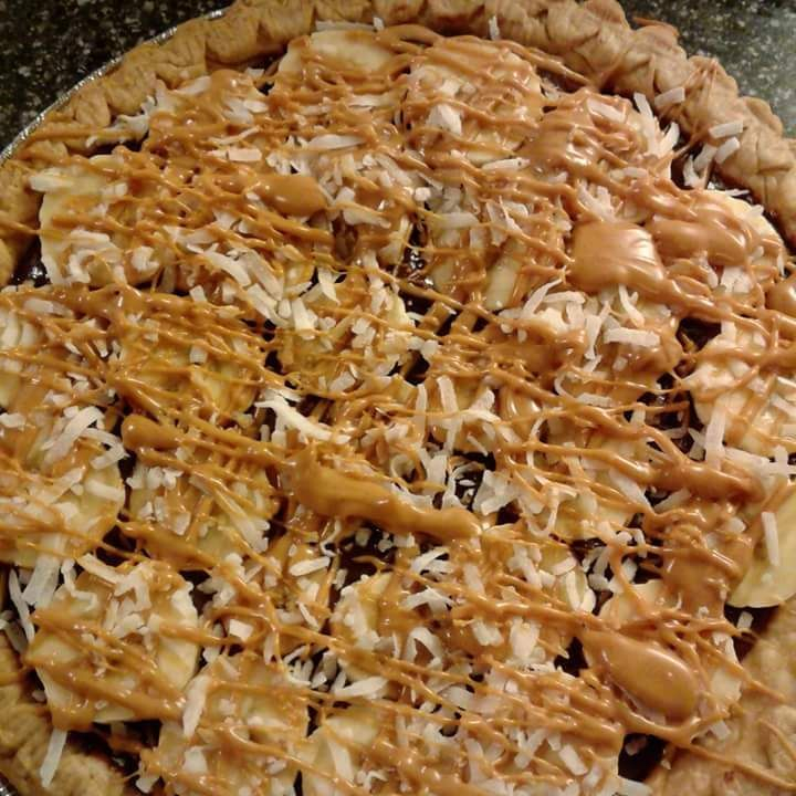 Girl Scout Samoa cookie inspired pie