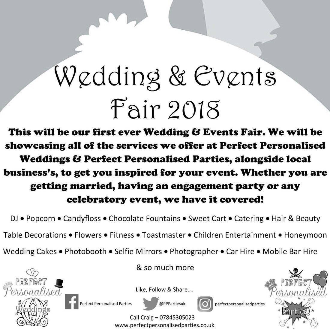 wedding fair dunstable luton bedfordshire bride dj parties perfect personalised