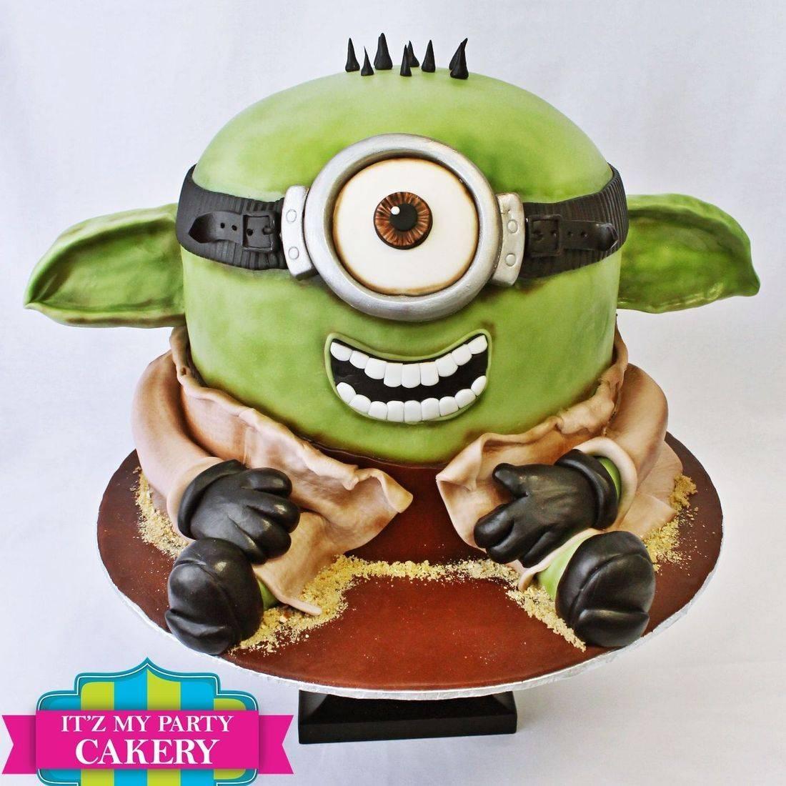 Yoda Minion Star Wars Cake Dimensional Cake Milwaukee
