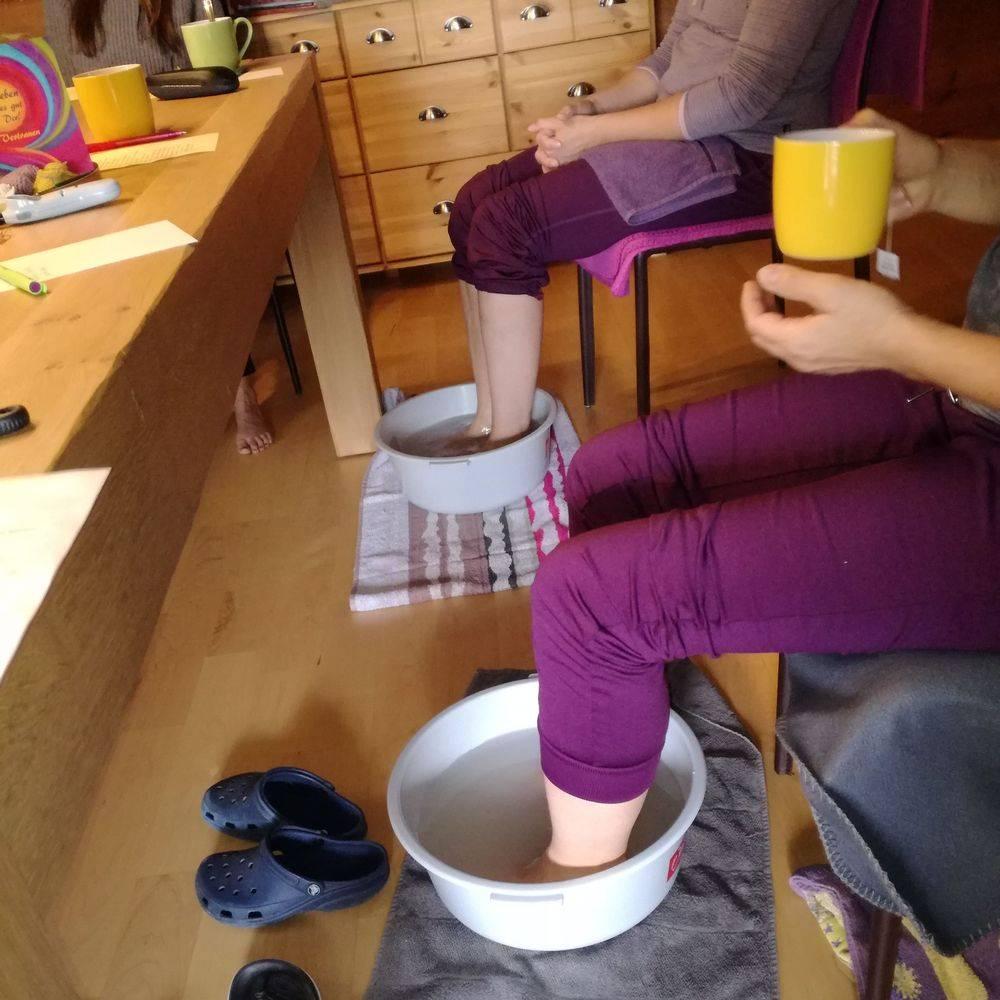 RausZeit Schüßlersalze Fußbad entgiften wohltun Tee