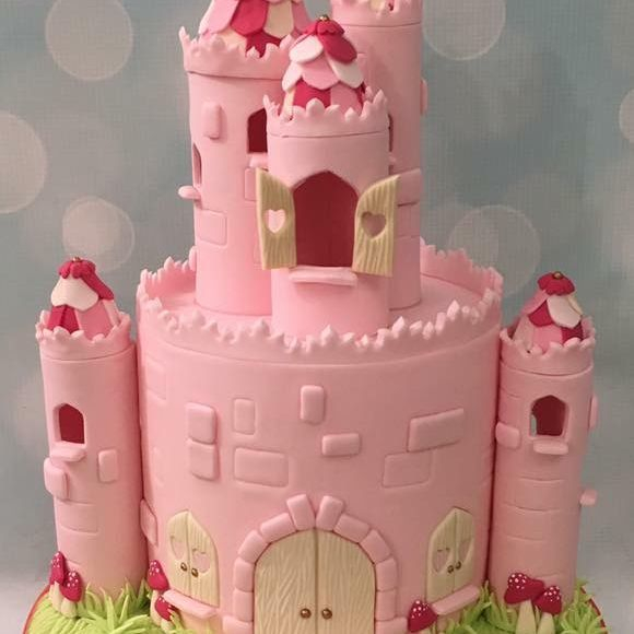 Pink Castle Cake Birthday Novelty