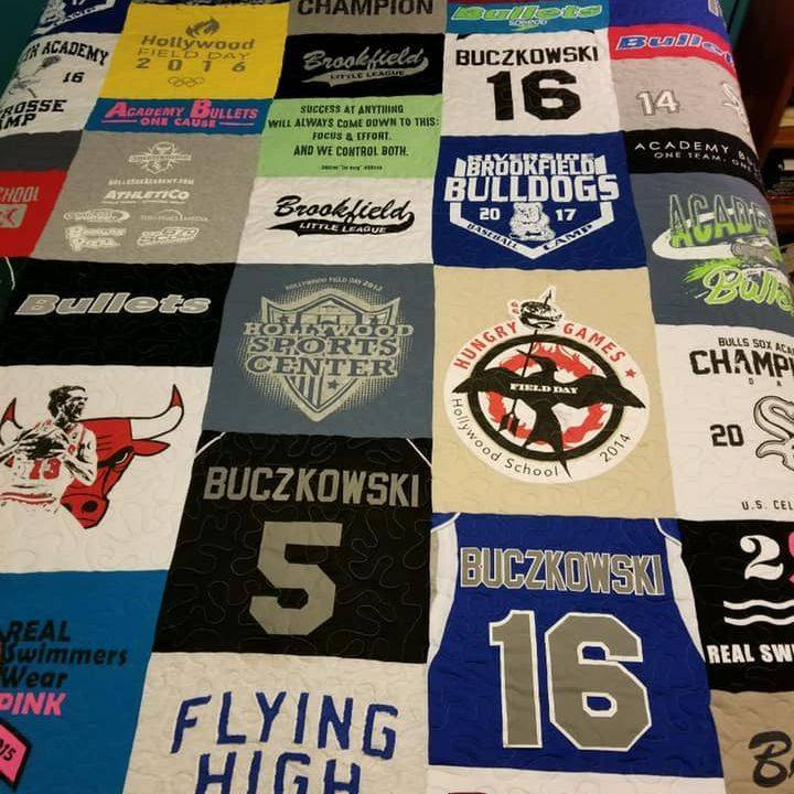Custom Made T-shirt Quilt