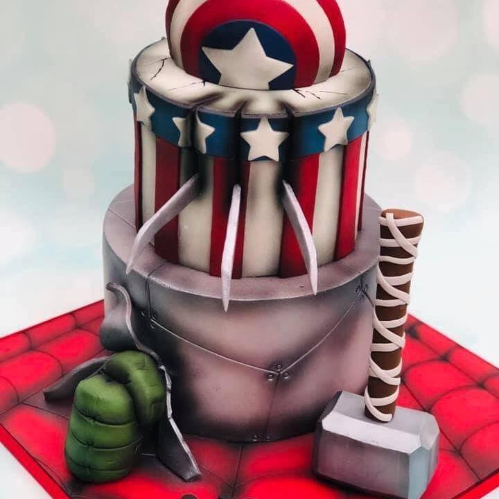 Birthday Cake Avengers