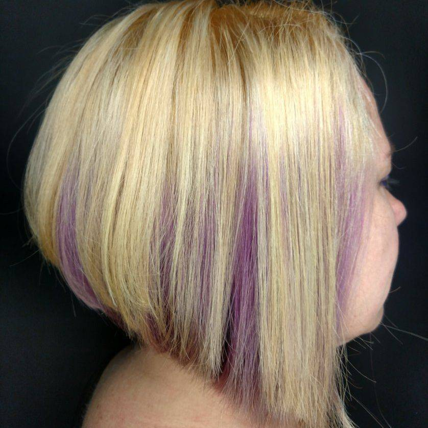 blonde stacked a-line bob