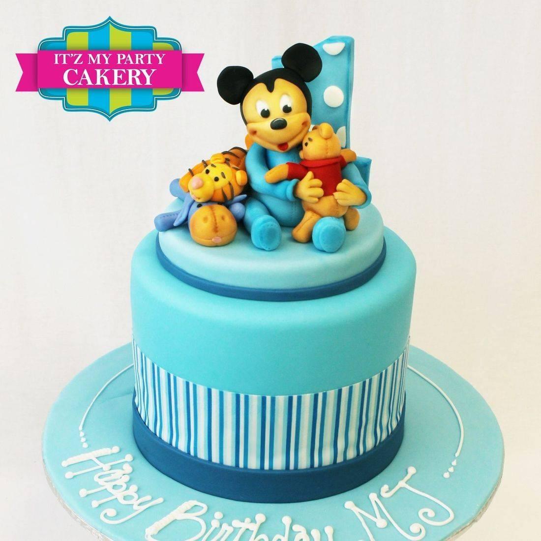 Custom  Mickey Mouse First Birthday Cakes Milwaukee