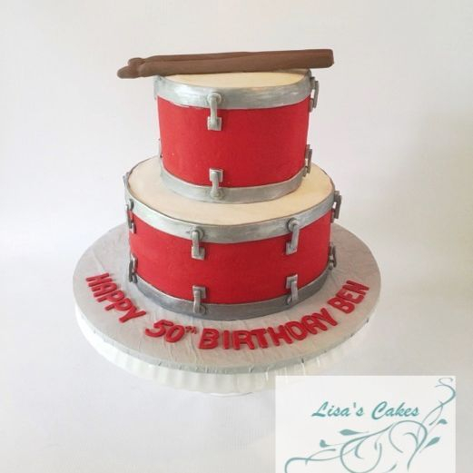 Stacked Drums Cake