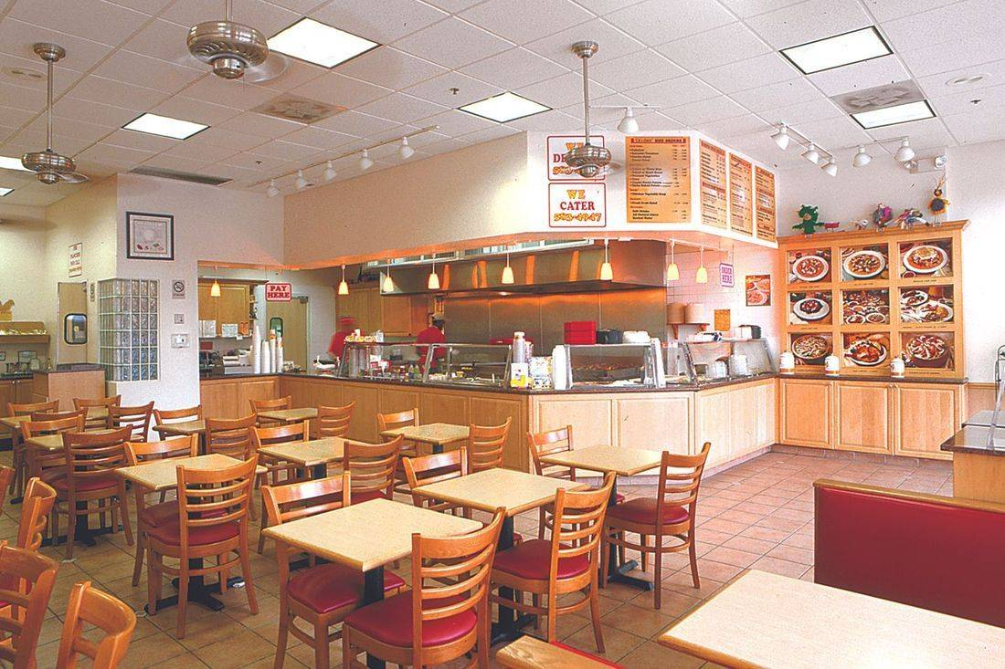 Chicken Kitchen restaurant in Hollywood dining area & open kitchen