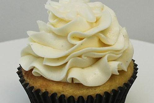 Snowflake Vanilla Bean Cupcake